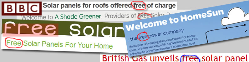 Free Solar Offers in the UK Press